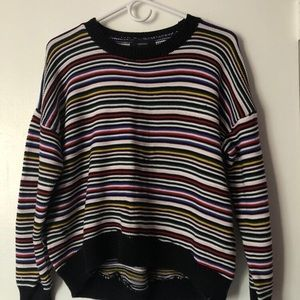 stripped knit sweater